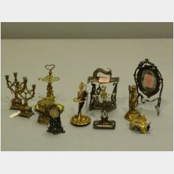 Group of Miscellaneous Doll House Accessories