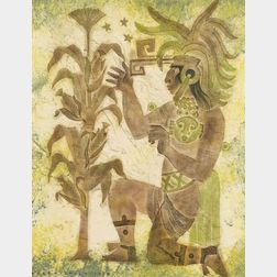 Dale Nichols (American, 1904-1989)    Mayan Chief