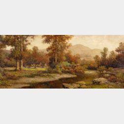 Milton H. Lowell (American, 1848-1927)    Mountain Waters