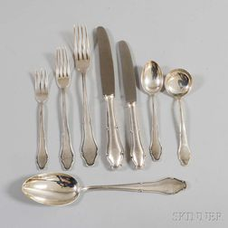 Lutz & Weiss .800 Silver Partial Flatware Service for Eight