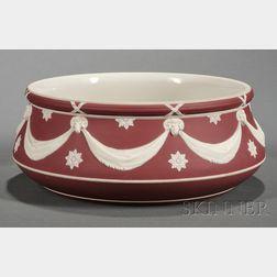 Wedgwood Crimson Jasper Dip Salad Bowl
