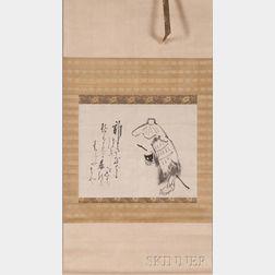 Hanging Scroll Depicting a Beggar