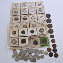 Group of Early Canadian Coins and Tokens
