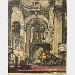 Luigi Kasimir (Austrian, 1881-1962)    Two Works:  Rome, Arch of Septimus Severus