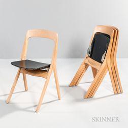 Four Carl Johan Bowman Tuoli Folding Chairs