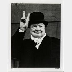 Alfred Eisenstaedt (American, 1898-1995)      Winston Churchill, Liverpool