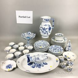"""Group of Meissen """"Blue Onion"""" Pattern and Other Blue and White Tableware"""