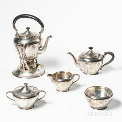 Karl F. Leinonen Arts and Crafts Sterling Silver Tea and Coffee Service