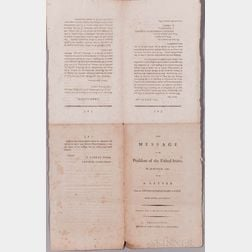 Gerry, Elbridge (1744-1814) Five Printed Ephemeral Documents.