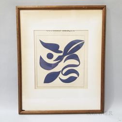 Framed Georges Braque Engraving from Guillaume Apollinaire