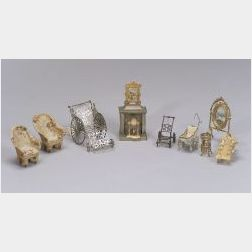 Group of Miscellaneous Dollhouse Accessories