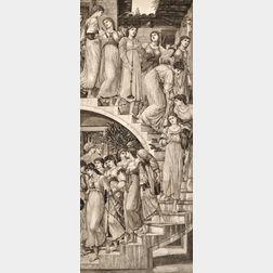 Felix Stanislas Jasinski, engraver (Polish, 1862-1901), After Edward Burne-Jones      (British, 1833-1898)   The Golden Stair