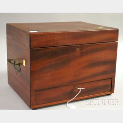 Ship's Physician's Mahogany Medicine Chest with Drawer