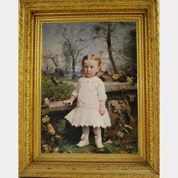 Hugh Newell (Irish/American, 1830-1915) Full-length Portrait of Mary Nichols Sutherland (1880-1969), Daughter of Georgiana Nichols (...