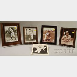 Five Autographed Baseball Player Photographs