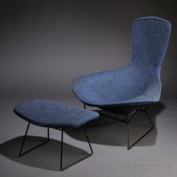 Harry Bertoia (1915-1978) Bird Chair and Ottoman