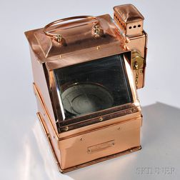 World War II-era Copper Lighted Naval Compass