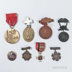 Eight Civil War and Post-war New York Veteran's Medals