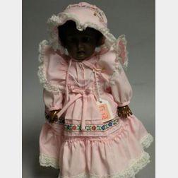 Black Kestner Bisque Socket Head Doll