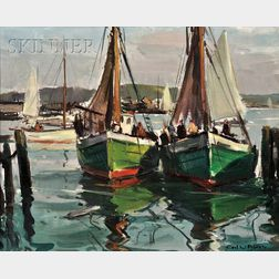 Carl William Peters (American, 1897-1980)      Fishing Boat: Rockport, Mass.