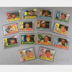 Fourteen 1960 Topps Baseball Cards