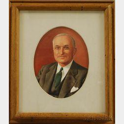 Robert Smullyan Sloan (American, b. 1915)      Portrait of Harry S. Truman.