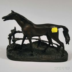 Bronze Sculpture of a Horse After P.J. Mene