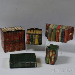 Five Book-form Biscuit Tins