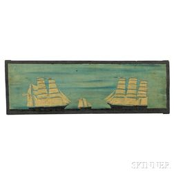 American School, Possibly Captain Chester Bradford, (New York, Early 20th Century)      Three Ships