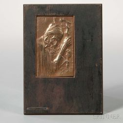 Bezalel Copper Plaque