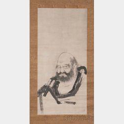 Hanging Scroll Depicting Dharuma