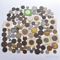 Group of Foreign Coins and Tokens