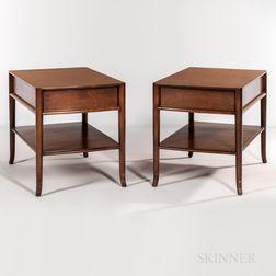 Two T.H. Robsjohn-Gibbings for Widdicomb End Tables