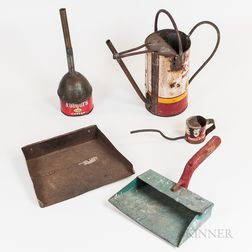 Five Household Items Fashioned from Tins.     Estimate $50-75