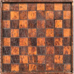 Small Wooden Inlaid Checkerboard