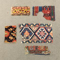 Five Rug and Kilim Fragments