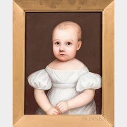 American School, Early 19th Century      Portrait of a Child in White