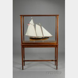 Cased Ship Model of 1851 America's Cup Yacht America