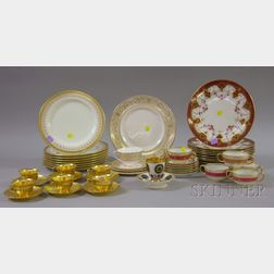 Group of Royal Doulton, Wedgwood and Limoges Porcelain