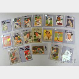 Nineteen Assorted 1909-1952 Baseball Cards