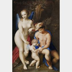 Northern European School, 18th/19th Century, After Correggio (Italian, c. 1489-1534)      The School of Love
