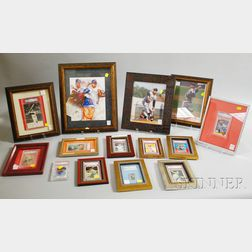 Thirteen Autographed Photographs and Baseball Cards, and a Yogi Berra Autographed   Postcard