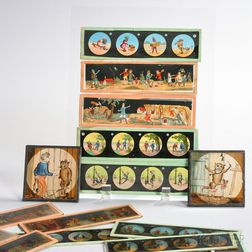 Collection of Hand-colored Magic Lantern Slides