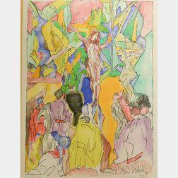 Jacques Villon (French, 1875-1963)      Crucifixion