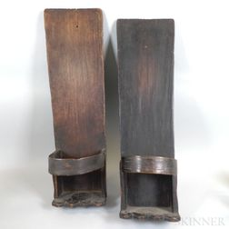Pair of Peruvian Wood Child Carriers