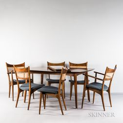 James Phillips & Sons Dining Table and Six Chairs