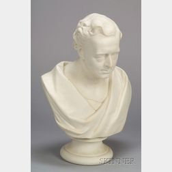 Wedgwood Carrara Bust of Robert Stephenson