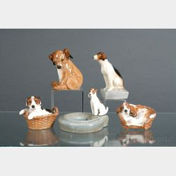 Five Royal Doulton Dog Figures