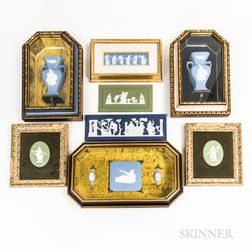 Eight Wedgwood and Similar Jasper Plaques