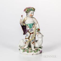 Derby Porcelain Allegorical Figure of Asia